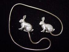 Silver Pewter RABBIT Bookmark~Peter Rabbit & Friend