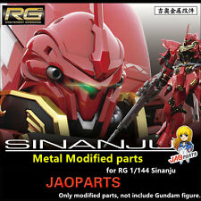 JAOparts Metal Modified parts set for Bandai RG 1/144 MSN-06S Sinanju Gundam