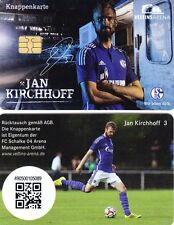 Knappenkarte + FC Schalke 04 + Jan KIRCHHOFF + Hülle 5.-€ Guthaben 11.04.2015