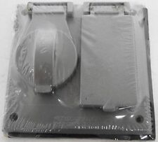 (10) Crouse-Hinds TP7244 Two Gang Covers *In Factory Packaging*