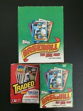 1990 Topps Wax & Rack Pack + Traded Wax Baseball Unopened Box Lot x 3