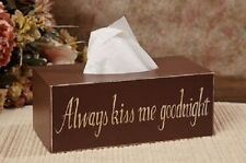 Always kiss me Goodnight rectangle Tissue Box Cover