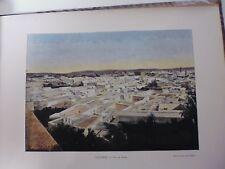 TUNISIE:Gravure 19°in folio couleur/ Vue de Tunis