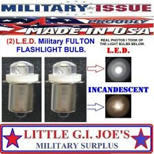 Fulton Military Issue Angle Head Flashlight MX-991/USA L.E.D Light Bulbs (2) Ea.