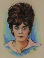 Harley Brown Pastel Portrait of a Lady 1963 Canadian Listed Artist Painting