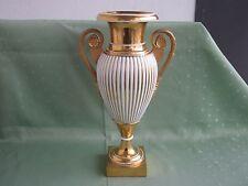Schöne große Royal Copenhagen Henkel-Vase mit viel Gold