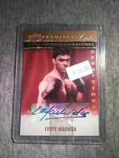 2009 UPPER DECK PROMINENT CUTS #CFSR-LM LYOTO MACHIDA AUTOGRAPH, UFC, 080715
