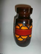 ~ Vintage Scheurich Vase Fat Lava West Germany  242 22 orange red brown 60s 70s