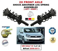 Para VW Golf VI 1.4 1.6 Bifuel 2008-2013 2X Frente Izquierdo/Derecho Choque Set