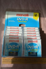 Lot of 12 MAXELL DVD-R for Camcorder 30 Minutes 1.4 GB 12 Disc Pack #1917
