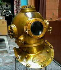 Brass Diving Divers Helmet Antique U.S Navy Mark V Vintage Maritime Collectible