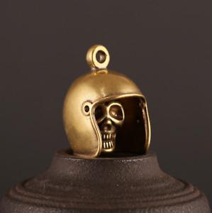 Skull Helmet Car Pendant Keychains Knife EDC Vintage Lanyard Hanging Handmade