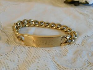 Vintage Speidel USA Men's ID Bracelet MICHAEL