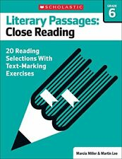 Literary Passages  Close Reading  Grade 6  20 Reading Selections With