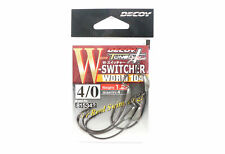 Decoy Worm 104W Switcher Front Weighted Worm Hooks Size 4/0 , 1.2 grams (5342)