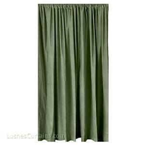 """Green Velvet Curtain 84"""" H Panel Home Theater Noise/Soundproofing Cotton Drapery"""