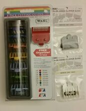 Wahl 8 Pack Colored Cutting Attachment Combs Guides and 1/16, 1 1/2,