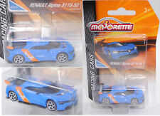 Majorette racing 212084009 RENAULT ALPINE a110-50 conceptcar, bleu/orange, Nº 2