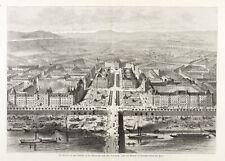 DRESDEN - JOHANNSTADT - SACHSENPLATZ MIT ALBERTBRÜCKE - Holzstich 1882