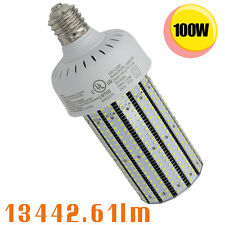 UL ULc DLC 100W LED corn cob light replace 400W floodlight parking lot shoebox