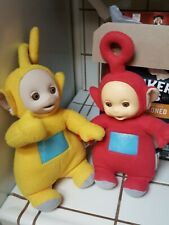 """1998 VINTAGE TELETUBBIE Talking  14"""" Plush  Yellow and Red one's!"""