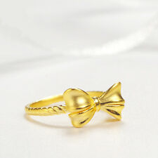 Authentic 24k Yellow Gold Bow Ring -Ring size: 6