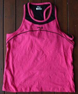 Fila Pink Sports Singlet (Size: Ladies XL) ***WITH BUILT IN BRA***