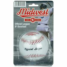 """Midwest Synthetic Leather Official Size & Weight League 9"""" Baseball Ball"""