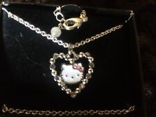 Hello Kitty Silver Pink Bow Crystal Star Bracelet Necklace Jewelry