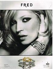 Publicité Advertising 2010 Les Bijoux Fred avec Kate Moss