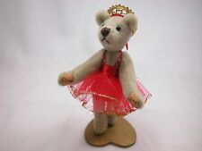 "World of Miniature Beear 3.5"" Cashmere Ballerina Bear Silvana #797 Collectible"