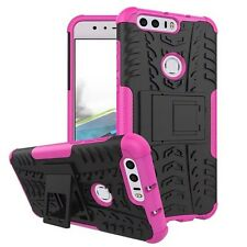 Hybrid Case 2 pieces Outdoor Pink for Huawei Honor 8 Case Cover New Case