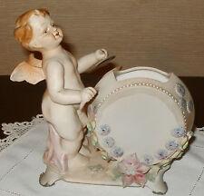 Vintage Andrea by Sadek Figurine Matte Angel Playing Drum Planter Occupied Japa