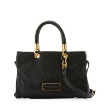 NWT Marc by Marc Jacobs Too Hot to Handle Leather Satchel Bag BLACK $398+ AUTH