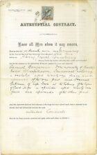 "CAPE OF GOOD HOPE - 1905 ""ANTENUPTUAL CONTRACT"" with £1 KEVII Revenue (ME502)*"