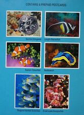 6 x Australian Worldwide Prepaid Postcards Underwater Life Folder Over $22 Value