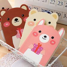 4pcs Portable Mini Notepad Handy Pocket Memo Small cute bear Notebook Stationery