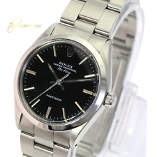 Authentic ROLEX Airking 5500 Oyster Perpetual Steel Black Dial 34mm Watch