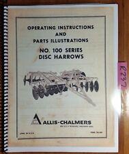 Allis Chalmers 100 Series Disc Harrow Owners Operators Amp Parts Manual Tm 320