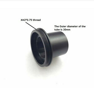 M42 to 30mm to 23.2mm Microscope Adapter Camera Eyepiece Tube w/ C-mount Thread