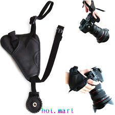 Leather Hand Wrist Grip Strap For Nikon D90 D7000 D3100 D3200 D5200 D5100 D3200