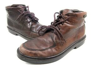 MEPHISTO, LEON BOOT, MENS, DARK BROWN RAINBUCK, US 8.5M, PRE-OWNED WITH BOX