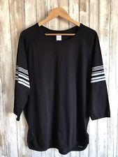 albam Black Gray Stripe Regular Fit 3/4 Baseball Sleeve Top 4 * Portugal RARE *