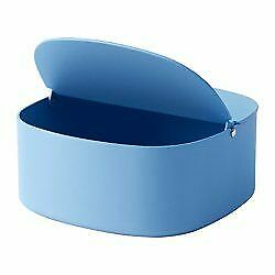 Ikea YPPERLIG Box with Lid 6x6x5 Blue 303.461.37