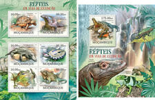 Reptiles Reptilien Turtles Crocodiles Animals Fauna Mozambique MNH stamp set