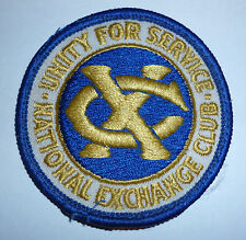 NATIONAL EXCHANGE CLUB CLOTH PATCH