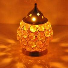 Diwali Decorative Crystal Brass Akhand Diya Candle Holder For Home Decoration
