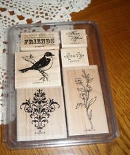 STAMPIN' UP  ~  FRIENDS 24-7 ~ 6 pc RUBBER STAMP SET ~ MOUNTED IN CASE