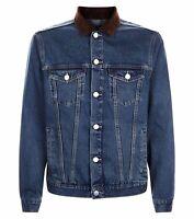 Men`s Ex-Store Denim Jacket Sizes Size Small S Cord Collar
