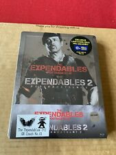 Expendables 1 & 2 Blu Ray Steelbook NEW & SEALED Sylvester Stallone Action